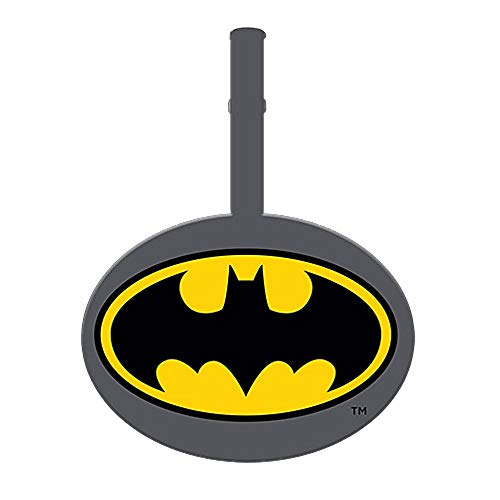 Genuine DC Comics Classic Batman Logo PVC Rubber Luggage Tag Travel