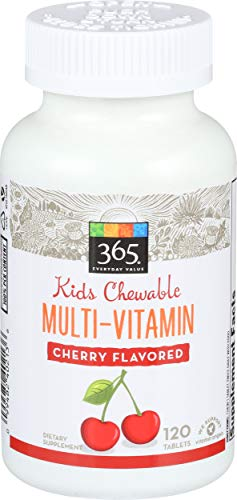 365 Everyday Value, Kids Chewable Multi-Vitamin, Cherry...