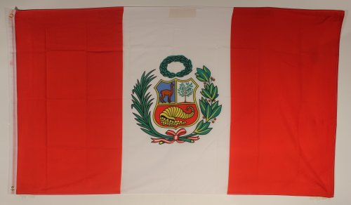 Buddel-Bini Flagge Fahne ca. 90x150 cm : Peru Peruflagge Nationalflagge Nationalfahne