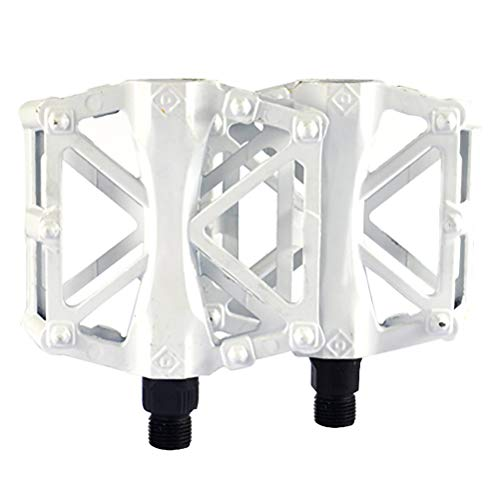 LotCow Bike Pedals 9/16 for MTB, Mountain Road Bicycle Flat Pedal, with 16 Anti-Skid Pins -Universal Lightweight Aluminum Alloy Platform Pedal for Travel Cycle-Cross Bikes etc