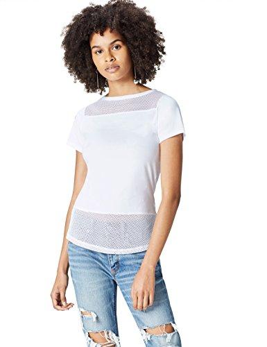 Activewear Camiseta Rejilla para Mujer , Blanco (White), 40 (Talla del Fabricante: Medium)