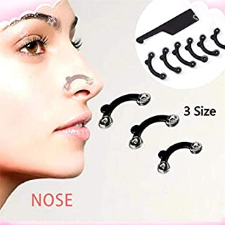 6PCS/Set 3 Sizes Beauty Nose Up Lifting Bridge Shaper Massage Tool No Pain Nose Shaping Clip Clipper Women Girl Massager