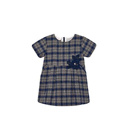 PAZ Rodriguez 004-95098 Vestido, Azul (Indigo), Recién Nacido (Tamaño del Fabricante:24M) para Bebés