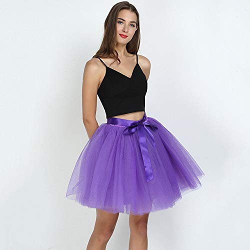 MIBKLPG Dames Rokken 7 Lagen Tule Rok Mode Rokken Dames Baljurk Party Petticoat