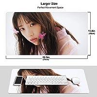 乃木坂46 マウスパッド 光学マウス対応 パソコン 周辺機器 超大型 防水 洗える 滑り止め 高級感 耐久性が良い 40*75cm