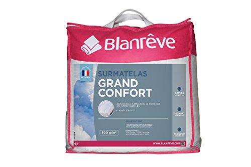 Blanrêve - Surmatelas Grand Confort - 140x190 cm - cocooning - Fibres lavables