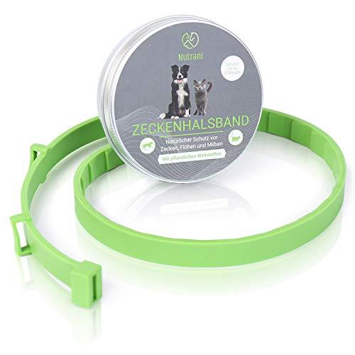 Nutrani Zeckenhalsband für Hunde | größenverstellbar und wasserfest – Zuverlässiger Zecken- und Insektenschutz gegen Zecken, Mücken, Flöhe, Milben und Larven – Langanhaltender Schutz bis zu 8 Monaten