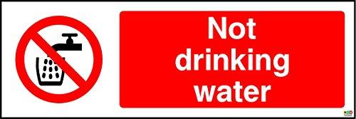 No agua potable señal–1,2mm plástico rígido 300mm x 100mm