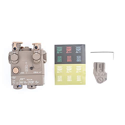 WADSN Navy Seal PEQ-15A DBAL-A2 Modelo de Caja de batería simulada PEQ para Pantalla táctica Airsoft AEG(Desert)