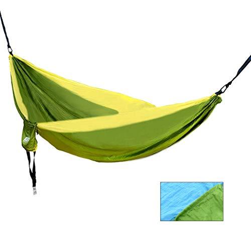 Hamacs, Meubles de Camping en Plein air adaptés à Plusieurs scènes Saut en Tissu de Parachute du lit Charge de Stockage Simple 200 kg (Couleur: Orange, Taille: 200 * 300 cm) Confortable