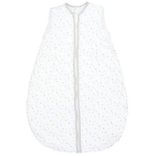 TupTam Saco de Dormir sin Mangas Calentado para Bebé, Estrellas Blanco 2, 104-110