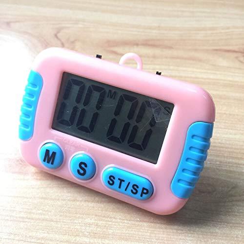 Boutique de Hanks Électronique minuterie Alarme sonore de Cuisson Jeux de Sports Bureau de l'écran LCD de Cuisine (Color : Pink)