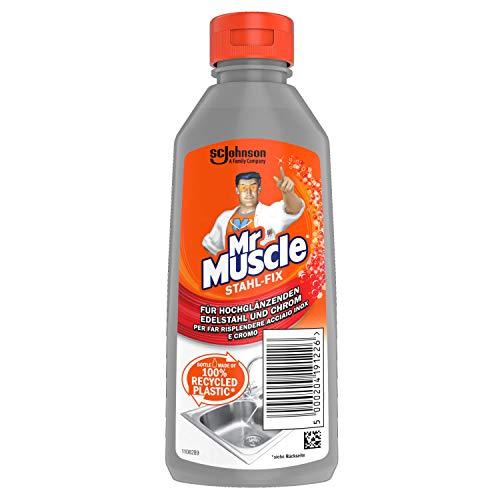 Mr Muscle Stahl-fix - Limpiador de acero inoxidable (6 x 200 ml)