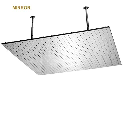 Great Price! Large Rainfall Shower Head,48 inch Luxury Fixed Showerhead Made of 304 Stainless Steel,...