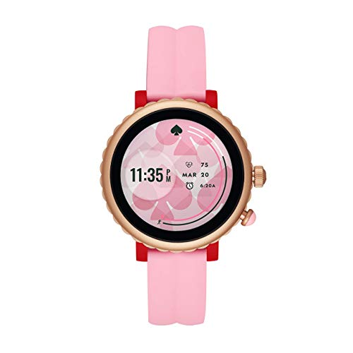 Kate Spade New York Women's Gen 4 Scallop Sport HR Heart Rate Silicone Touchscreen Smart Watch, Color: Pink...