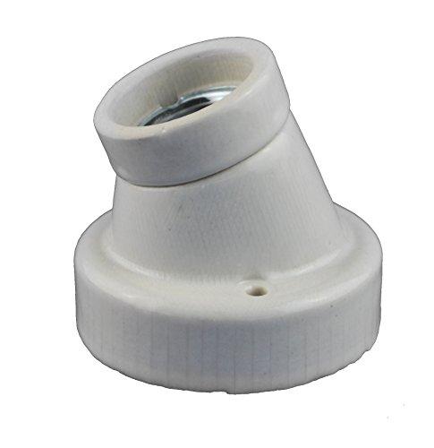 Keramikfassung / Porzelanfassung Deckenfasung mit E27 Gewinde für (Abgewinkelt)