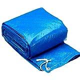 Super11Six Piscina Desmontable Tubular, Piscina Redonda sobre Suelo portátil, con Bomba, Alfombrilla y Lona - Uso de 3-5 Personas, Pared de PVC Azul,C Pool Ground Cloth