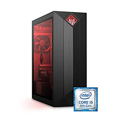 Omen by HP Obelisk Gaming Desktop Computer, Intel Core i5-9400F Processor, NVIDIA GeForce GTX 1660 Ti 6 GB, HyperX 8 GB RAM, 512 GB SSD, VR Ready, Windows 10 Home (875-0140, Black)