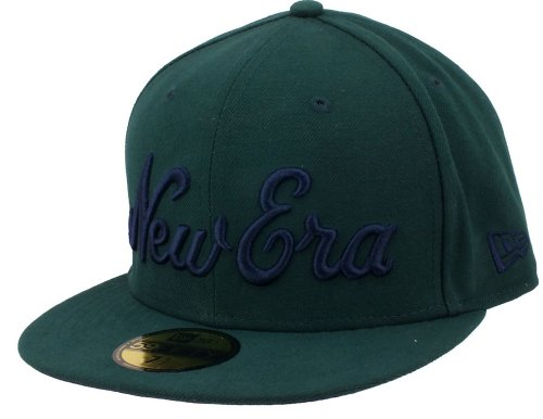 New era Basecap Script 59fifty 2 Dark Green/Navy - 6 7/8-55cm