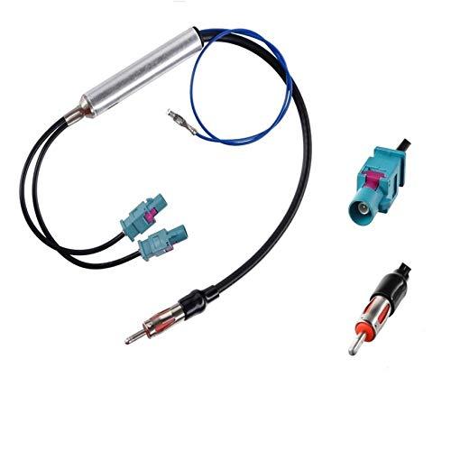 able adaptador de antena para coche con conector DIN de doble conector...