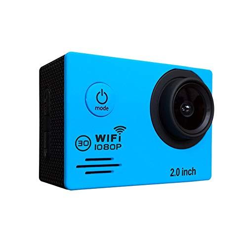Kamera Motorrad Fahrradhelm Recorder Ultra High Definition Outdoor wasserdichte Sportkamera Blau 170 ° HD Weitwinkel Tragbare Kamera