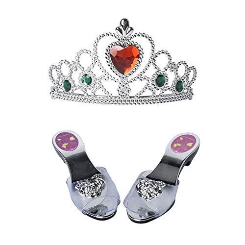 Princesa Dress Up - Zapato y tiara de princesa, accesorios de moda, joyas de princesa, zapatos para cosplay, fiesta, regalo de cumpleaños