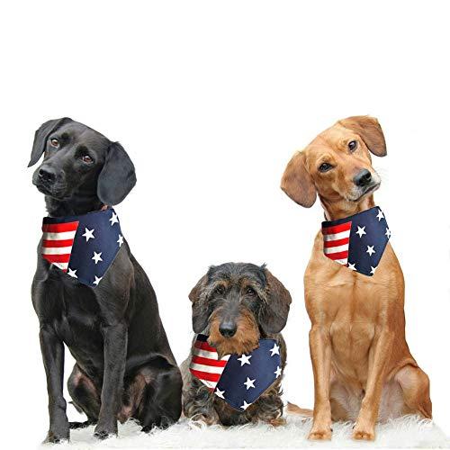 NACOCO Hundehalstuch, Amerika-Flagge, mit Union-Flagge, verstellbar, Zubehör für kleine und mittelgroße Hunde, L