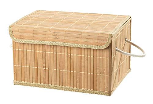 Home4You Aufbewahrungsbox Dekobox Aufbewahrungskiste | Naturfarben | mit Deckel | 33x23x20 cm