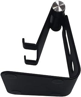 Black foldable desktop computer stand for mobile phone tablet computer adjustable metal table portable aluminum stand