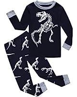 Family Feeling Dinosaur Little Boys Long Sleeve Pajamas 100% Cotton Pjs Toddler Sleepwears Size 5