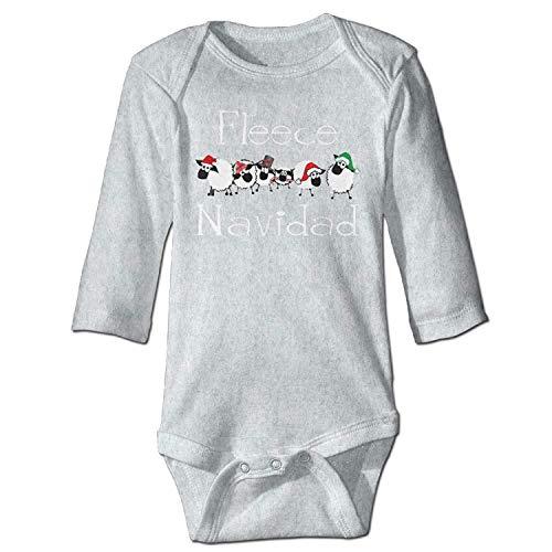 Unisex Toddler Bodysuits Fleece Navidad Funny Apparel Girls Babysuit Long Sleeve Jumpsuit Sunsuit Outfit Ash