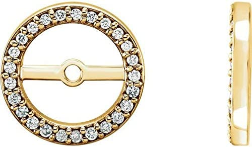 14K Yellow Gold 1 10 CTW Diamond 5.9 Earring 5 ☆ very popular ID Cheap bargain mm with Jackets