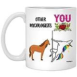 N\A Divertente miglior micologo Unicorno complimenti Tazza di caffè Bianco 11 Once