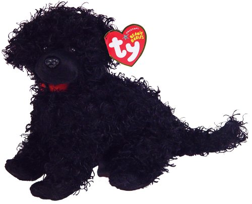 Ty Smudges - Curly Black Dog - Beanie Babies