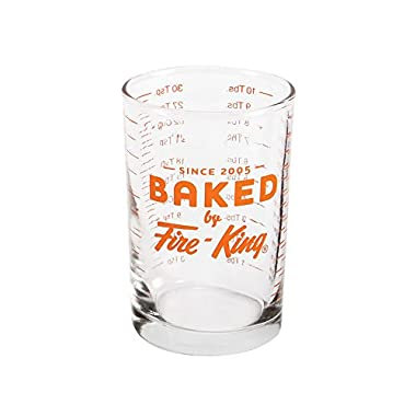 Baked By Fire-King Glass 5 Ounce Graduated Measuring Cup