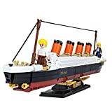 SuSenGo Titanic Building Block Kit -481pcs Bricks Toy Building Sets for Adults Kids Educational Toys
