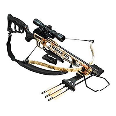 Viking Crossbows FX1 Recurve Crossbow Package with Rifle Stock, 240 Feet Per Second, 175 Pound Draw, Boneyard Camo, One Size