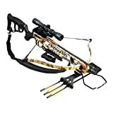 Viking FX1 Recurve Crossbow Package with Rifle Stock, 240 Feet Per Second, 175 Pound Draw,...