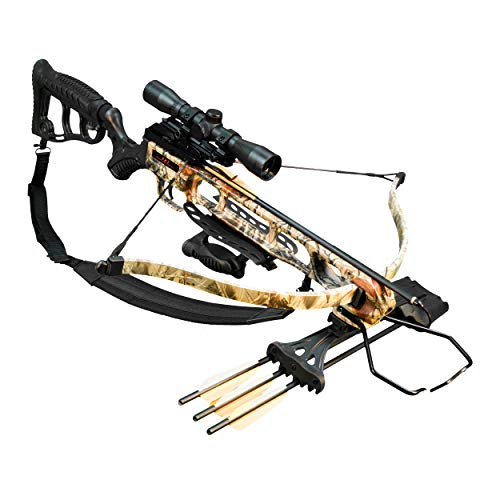 Viking FX1 Recurve Crossbow Package with Rifle Stock, 240 Feet Per Second, 175 Pound Draw, Boneyard Camo