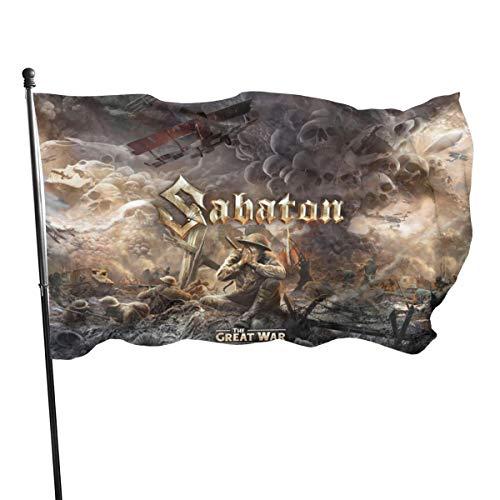 FHJEyh3 Sabaton The Great War Seasonal Garden Flag Set for Outdoors 3x5 Ft
