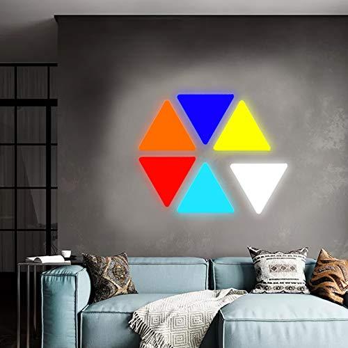 JAKROO Smart LED Licht Dreieck Licht DIY geometrische Spleißung für Schlafzimmer Wohn- / Spielzimmer Party Dekor, 9er Pack