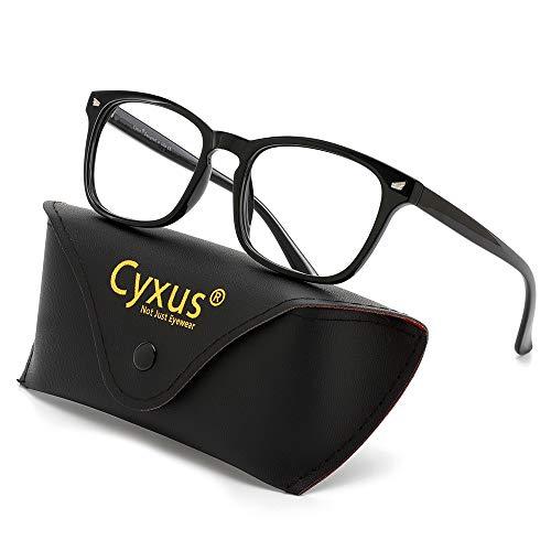 Occhiali da lettura Cyxus per bloccare la luce blu, mal di testa anti-fatica da vista, unisex (uomo/donna) (Nero, 1.5)