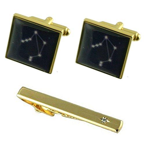 Select Gifts La balance du zodiaque signe anniversaire Star or manchette avec coffret Cravate