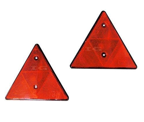 2 Stück Dreieckrückstrahler Anhänger 150 mm Rückstrahler Reflektor Dreieck