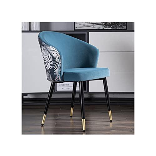 YYQQ Silla Cómodo Bordado Moderno Cocina Cocina Silla de Comedor Muebles de Sala de Estar Sillón Sofá Sofá Sofá Sillas de Maquillaje Nordic sillón (Color : BM288-02)