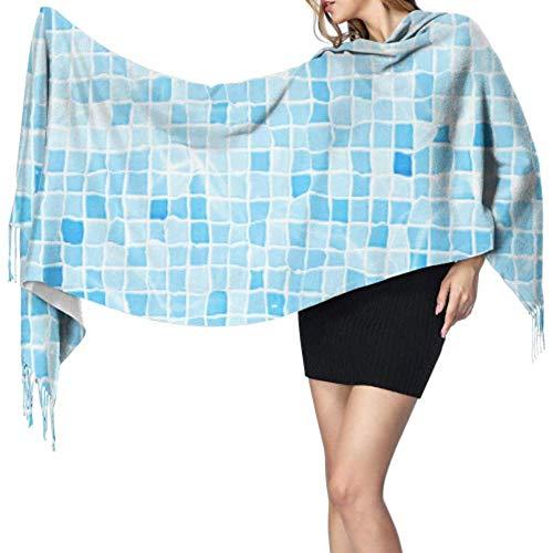 Blue Summer Cool Swimming Pool unter Wasser Fashion Schal Lightweight Cashmere Scarf Damen Damen Schals Large Soft Pashmina Extra Warm