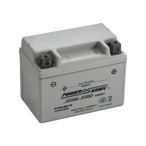 Power-Sonic (PTX4LBS-FS) Sealed Maintenance Free Powersport Battery