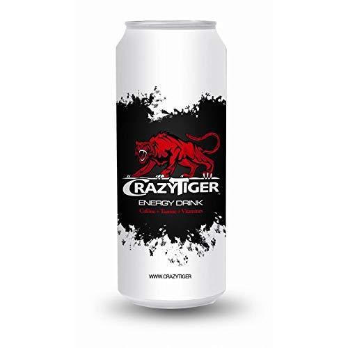 CRAZY TIGER - Boisson Energissante Canette 500Ml - Lot De 4 - Vendu Par Lot