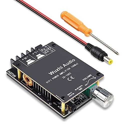 FIXITOK Bluetooth Verstärker Board mit TPA3116D2, Bluetooth 5.0 Dual Channel 100W x2 HiFi Stereo 2.0 Digital Power Board für Amplifier Audio Verstärker Platine Modul Für 4/8 Ohm Lautsprecher (1002)
