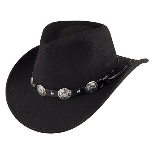 Jaxon & James Chapeau de Cowboy Tombstone Noir Large
